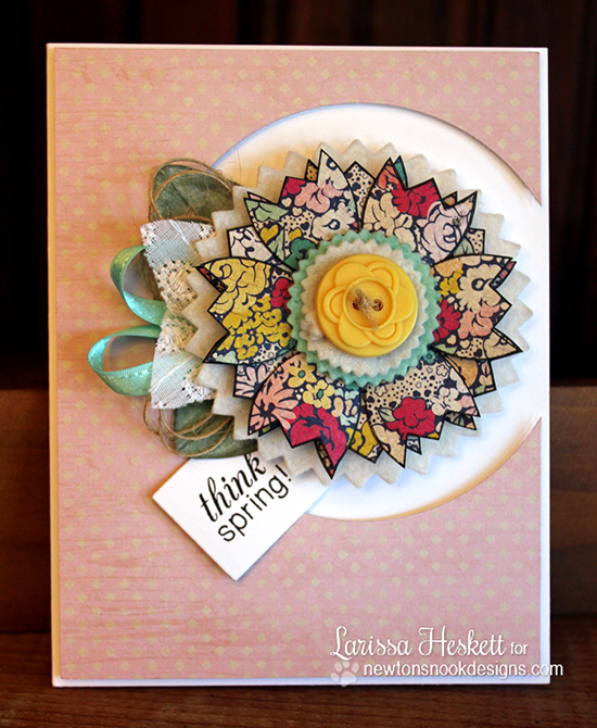 Tulip card by Larissa Heskett for Newton's Nook Designs - Easter Scramble Stamp set