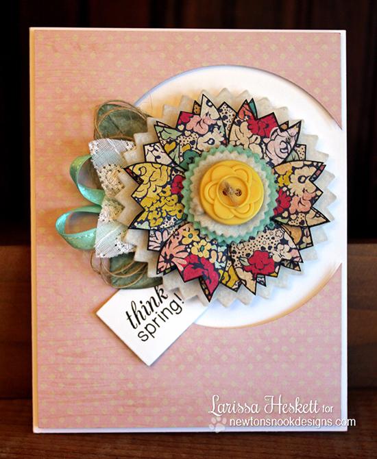 Tulip card by Larissa Heskett for Newton's Nook Designs - Easter Scramble Stamp set