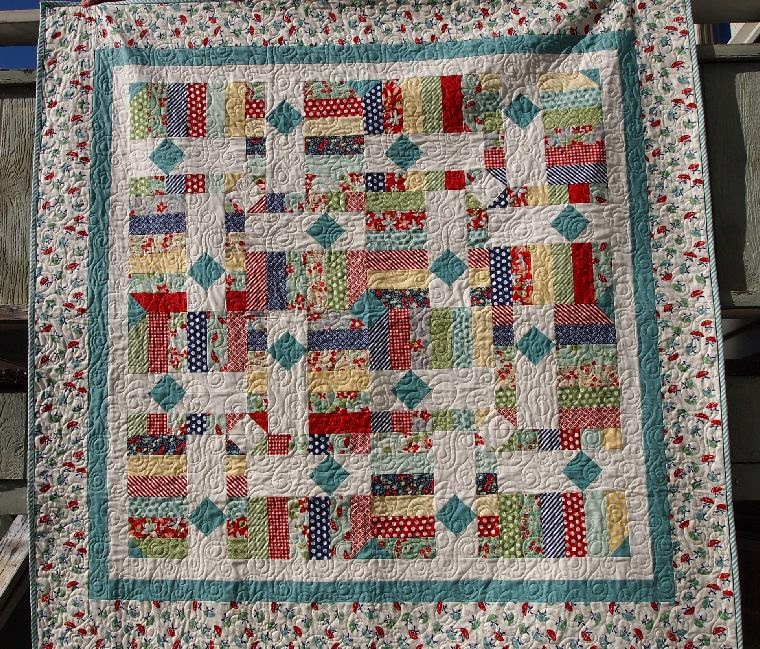 52 Quilts in 52 Weeks: April Jelly Roll Party: Drop Diamonds : the cozy quilt - Adamdwight.com