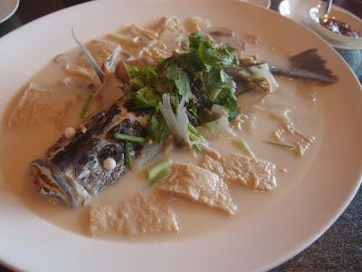鲜豆浆浸红鲷鱼