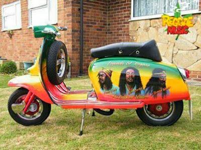 Vespa reggae Bob Marley