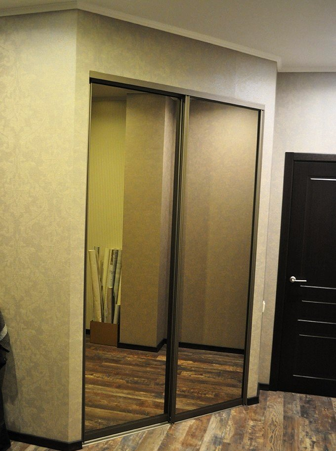 Двери для встроенного шкафа купе своими руками