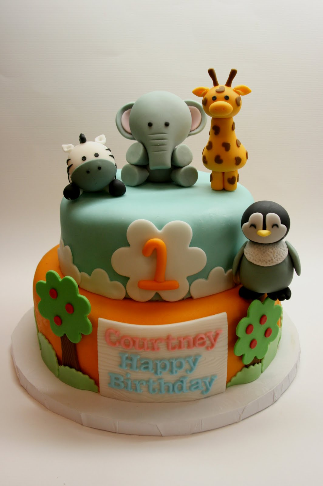 Beautiful Kitchen Safari Animal Cake For Courtneys 1st Birthday