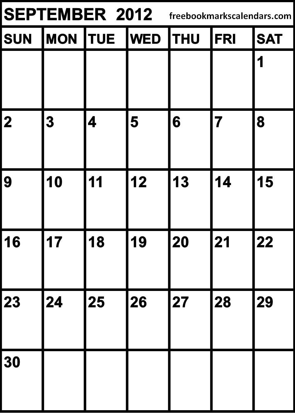 Free Blank Monthly Calendar Templates