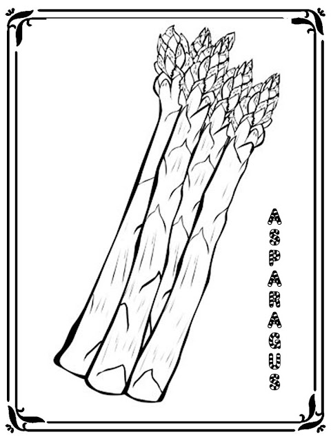 asparagus free printable coloring pages