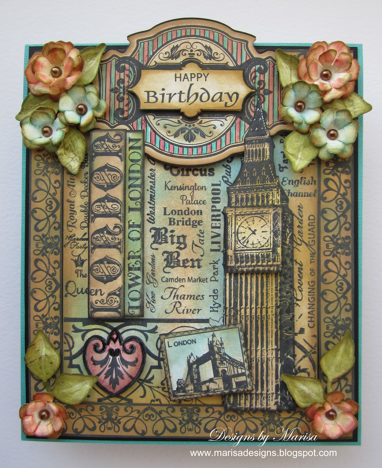 Designs by Marisa JustRite Papercraft June Release Happy – London Birthday Cards