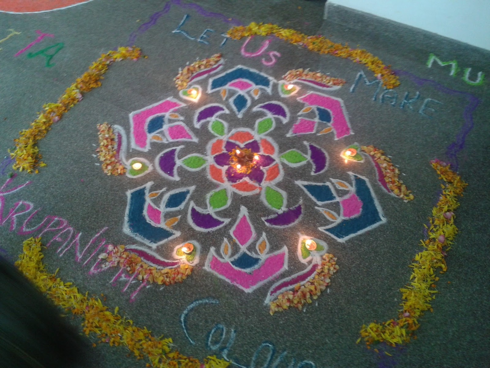 Rangoli Designs For Competition With Concepts Rangoli decorated by diyas
