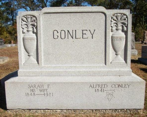 Climbing My Family Tree: Gravestone of Alfred & Sarah Conley, Louisville ILLinois