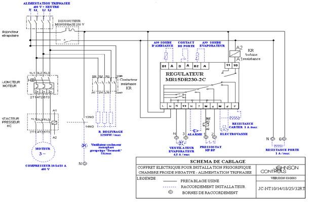 Mars 2011 schema electrique - Principe de fonctionnement d une chambre froide ...