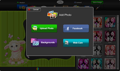 добавить фото в шаблон коллажа сервиса Make a Collage бесплатного онлайн фото редактора piZap для новичков