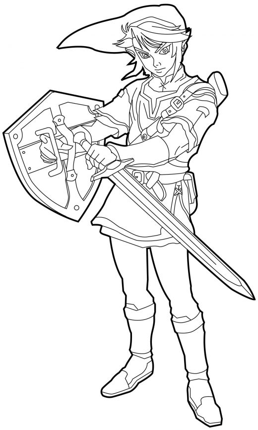 coloring pages zelda - photo#4