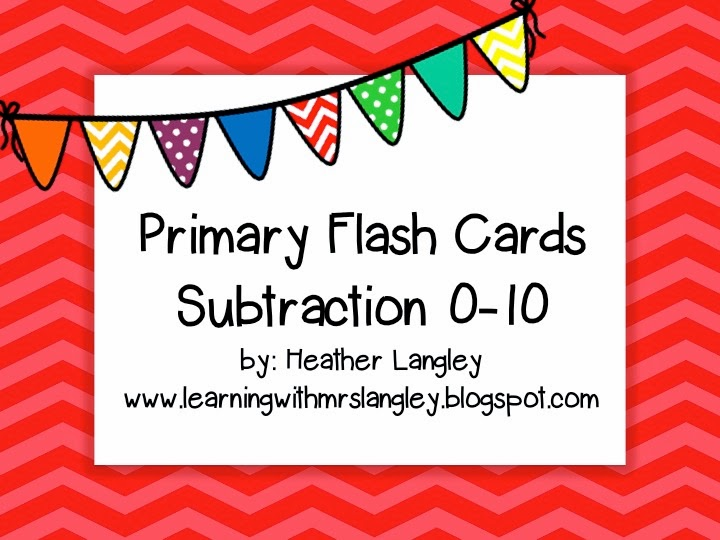http://www.teacherspayteachers.com/Product/Subtraction-Flash-Cards-0-10-979356