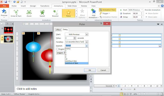 cara membuat animasi berjalan berulang-ulang di powerpoint
