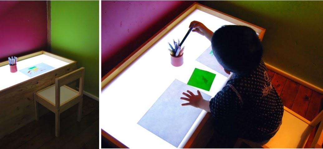 Merci qui merci montessori notre semaine 30 14 - Table a dessin lumineuse ...