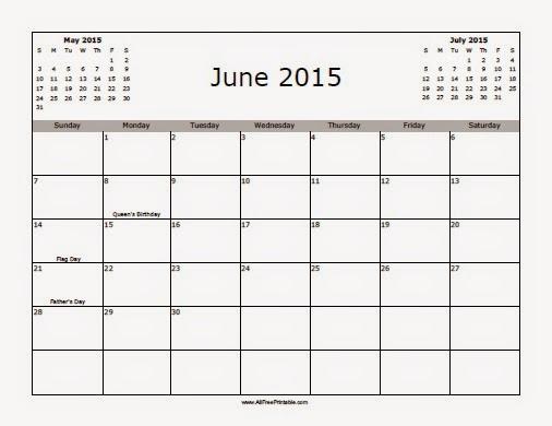 Calendar Zu : Free printable calendar june