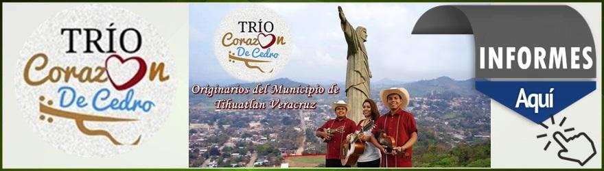 TRIO CORAZON DE CEDRO