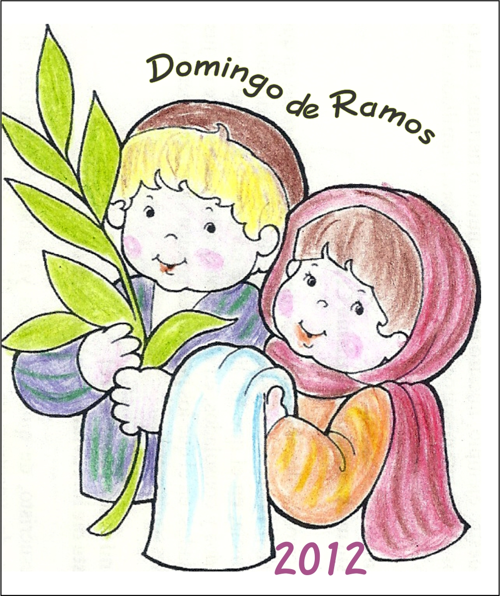 TARJETAS Y ORACIONES CATOLICAS: Domingo de Ramos 2012. niños color