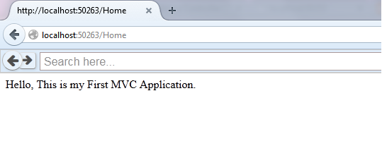 MVC APPLICATION