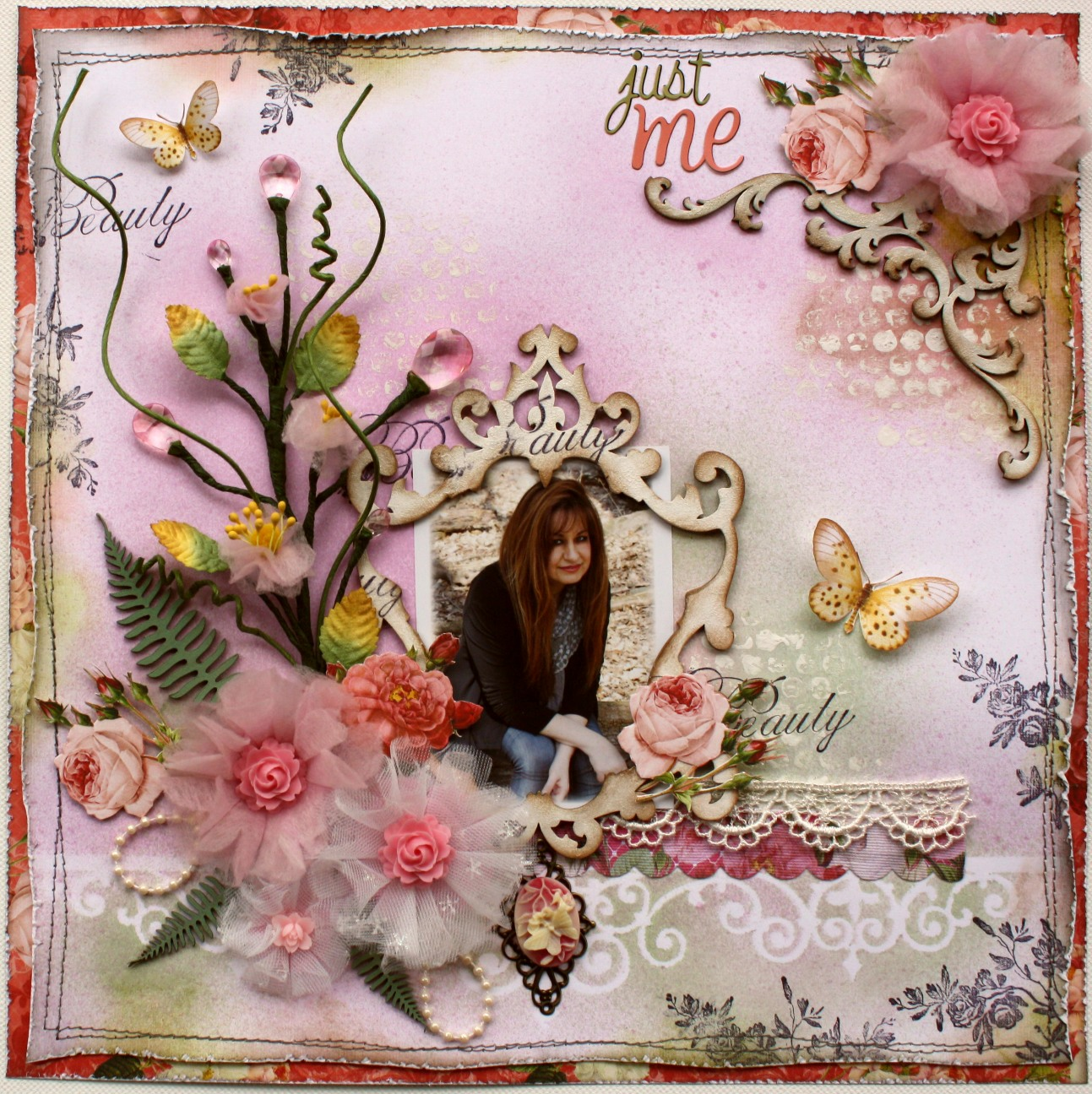 Scrapbook ideas with flowers - Such A Pretty Mess Bloom Tutorial Done With Websters Pages Netting Whimsies