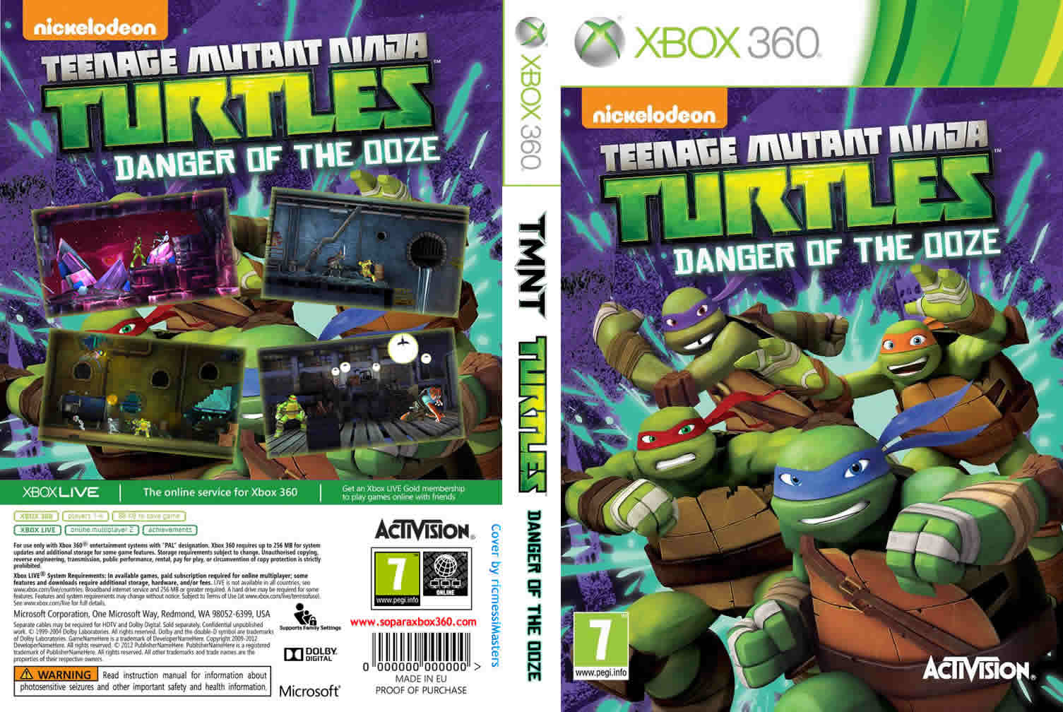 Capa Teenage Mutant Ninja Turtles Danger Of The Doze Xbox 360