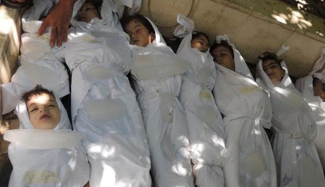 1.300 Warga Suriah Tewas Kena Bom Kimia Pasukan Assad