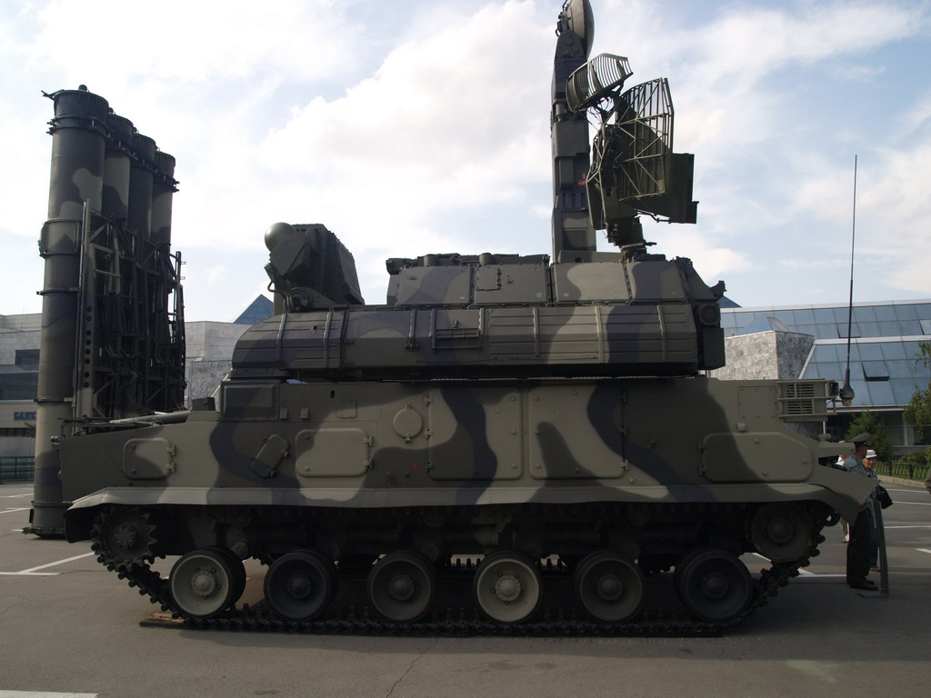 Tor missile system is designed to engage airplanes,cruise missiles & helicopters also unmanned aerial vehicles. Tor is an all weather low to medium altitude,short range surface to aur missile system. It has an operational range of 500 km.3 persons are in the crew & can travel at a speed of 65 km/h.