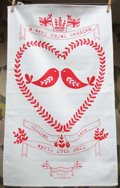 royal wedding tea towel. royal wedding teatowel.