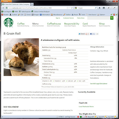 Screen shot of http://www.starbucks.com/menu/food/bakery/8-grain-roll?foodZone=9999.