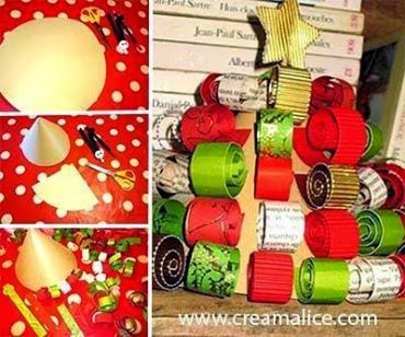 Diy d co sapin centre de table no l diy christmas - Fabrication sapin de noel en carton ...