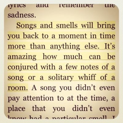 quotes, songs, smells
