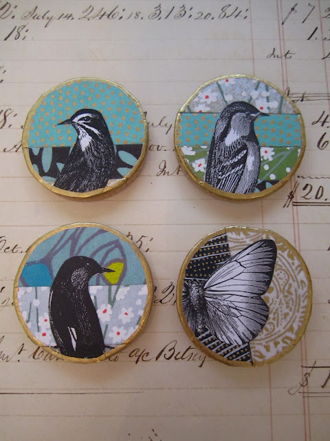 Magnets with birds on them.