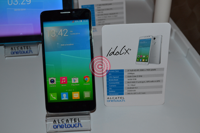 Alcatel OneTouch IDOL X+ with Real 2 GHz Octa Core Processor