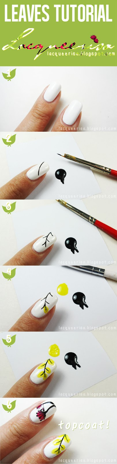 Simple Leaves Tutorial by Lacqueerisa