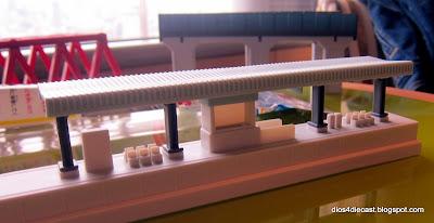 diorama train platform