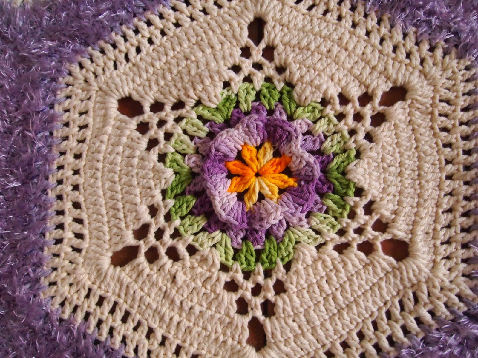 os croches da elsa tapete   hexagono motivo estrela