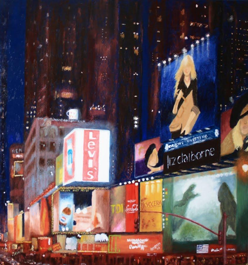New york oleo sobre lienzo 70x70
