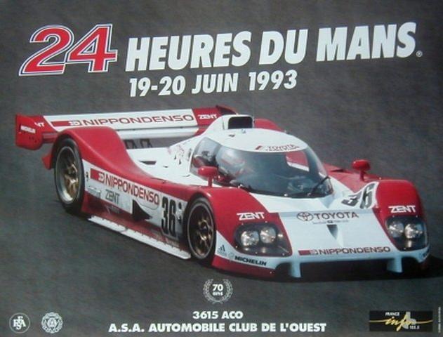 Affiche officielle des 24 Heures du Mans 1993