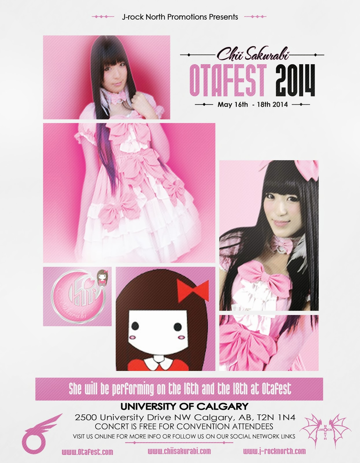 J-rock North Promotions Inc. Presents: Chii Sakurabi At Otafest 2014