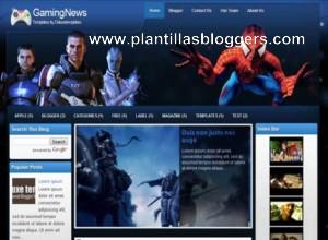 GamingNews plantilla para blogger