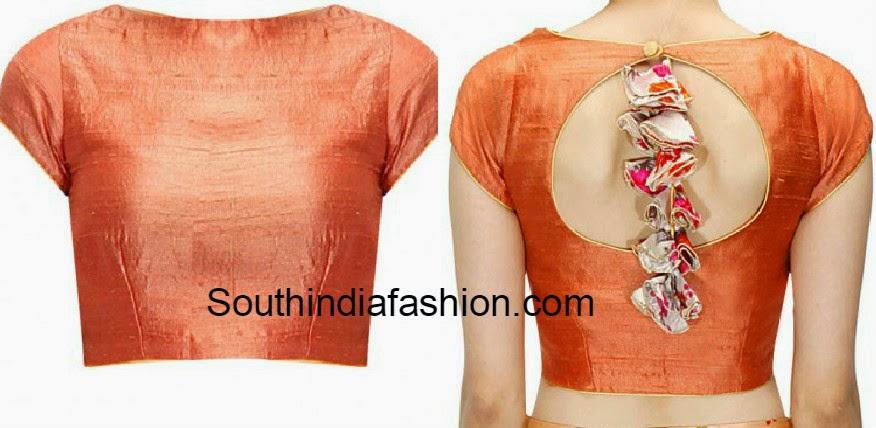 closed neck blouse designs