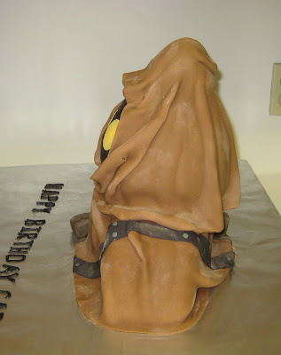 Star Wars 3D Jawa Cake with Glowing Eyes - Side View