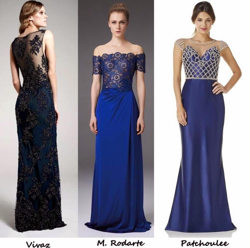 Vestido madrinha azul noiva