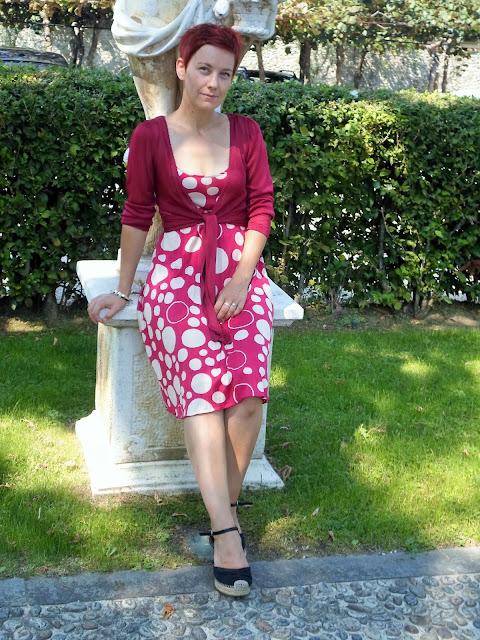 Pink Polkda Dot Dress