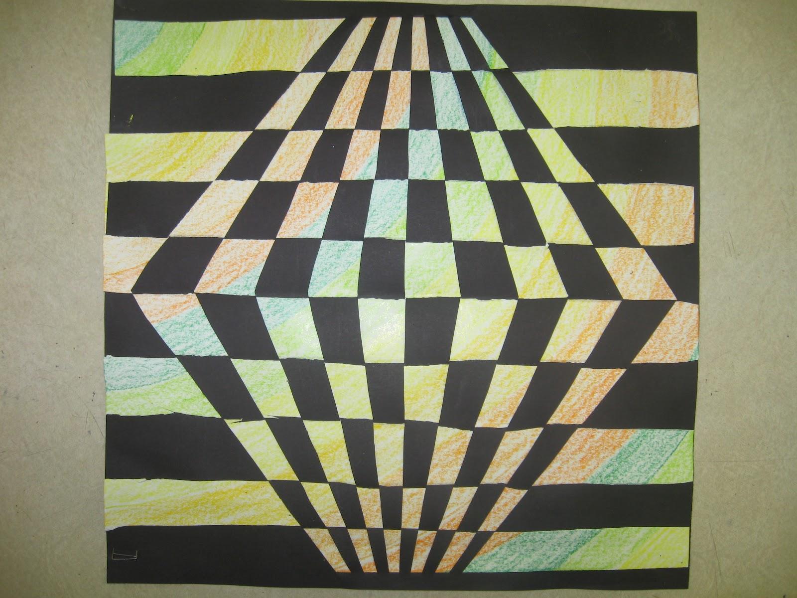 Op Art Line Design Lesson : Miss young s art room th grade op paper weaving