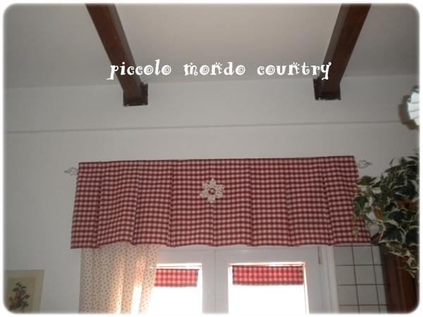Piccolo mondo country la mia cucina country - Tendine da cucina ...