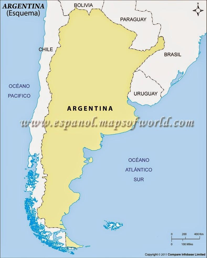 Argentina. Países limítrofes