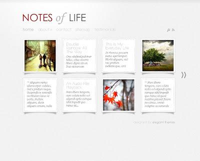 DailyNotes Wordpress Theme
