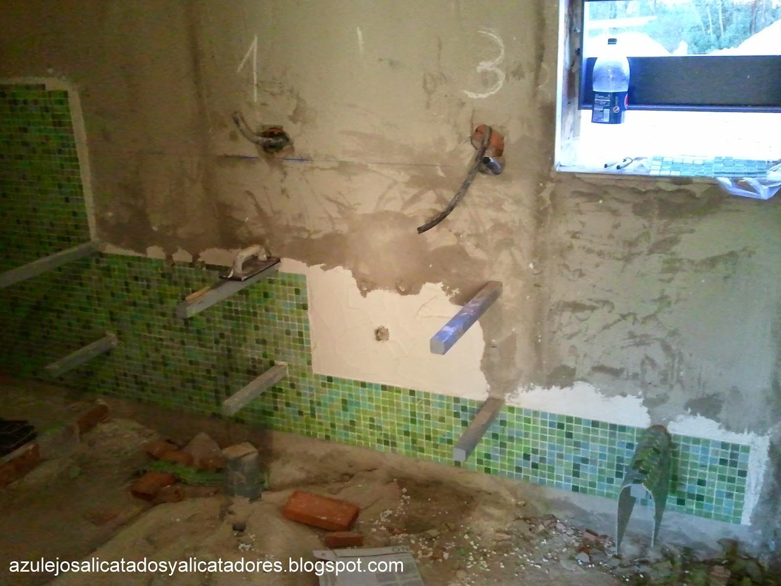 Azulejos Baño Huelva:Esta es la pared que nos encontramos de frente al entrar en el baño y