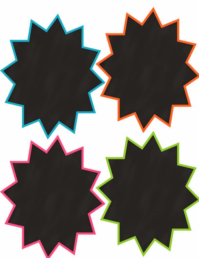 http://www.teacherspayteachers.com/Product/Freebie-4-Starburst-Chalkboard-Frames-Commercial-or-Personal-Use-829273