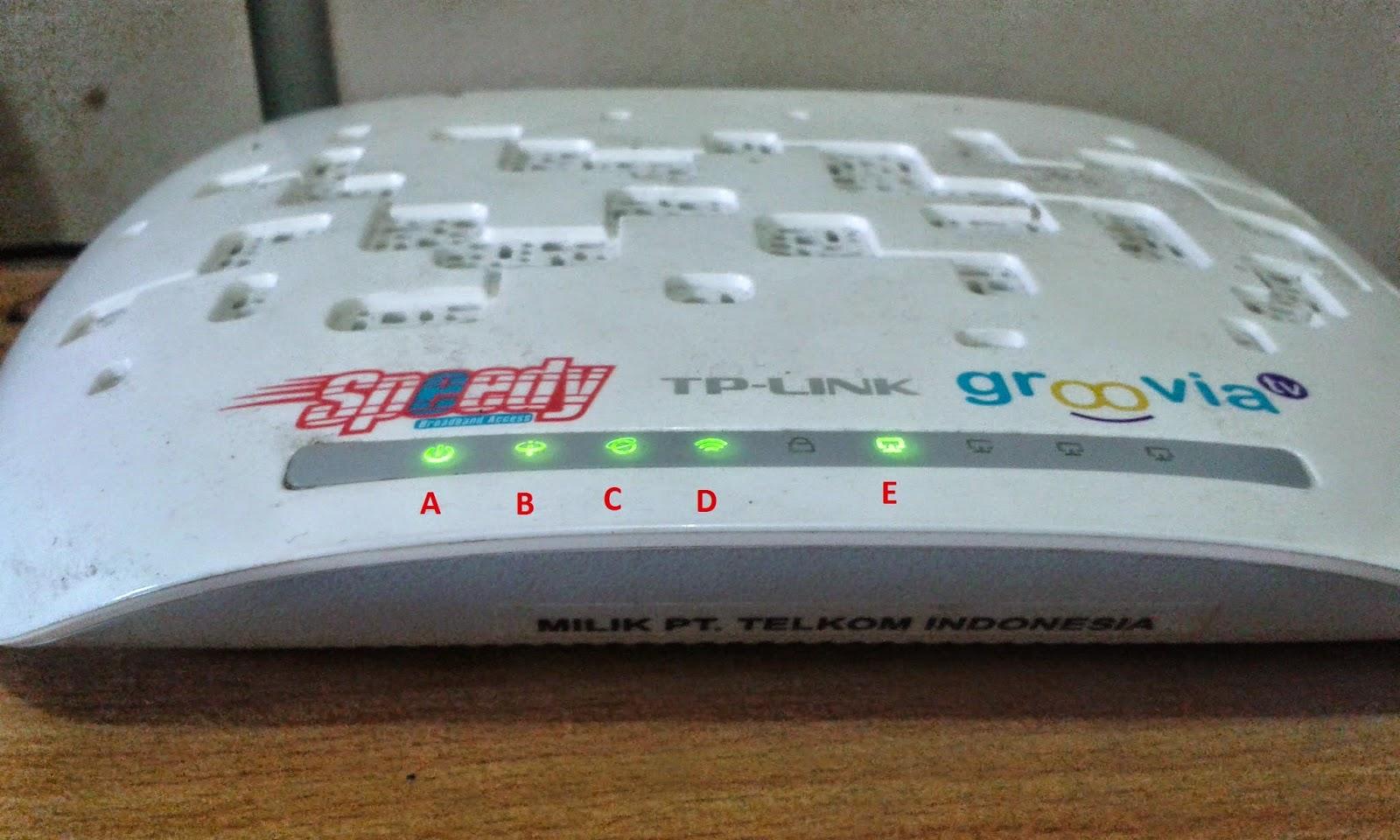 Cara Mengatasi Koneksi Internet Mati Pada Modem Speedy TP LINK TD-W8951ND